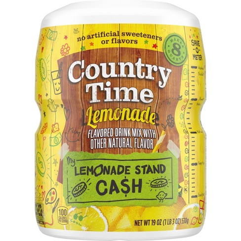 Country Time Lemonade Drink Mix - 19oz Canister - image 1 of 4