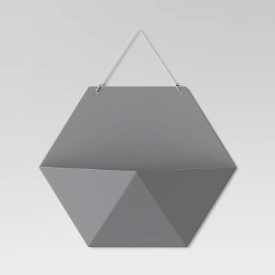 Hexagon Wall Pocket Shelf Dark Gray - Room Essentials™