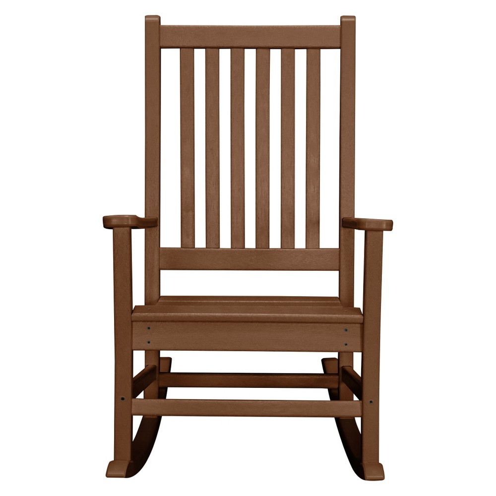 Polywood St. Croix Rocking Chair - Teak (Brown)