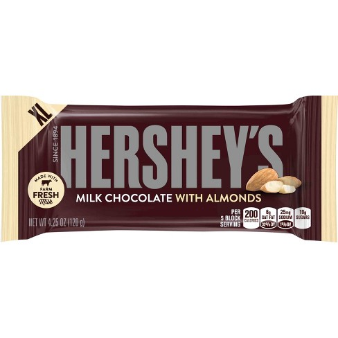 HERSHEY'S Milk Chocolate Bar with Almonds - 4.25oz - image 1 of 3
