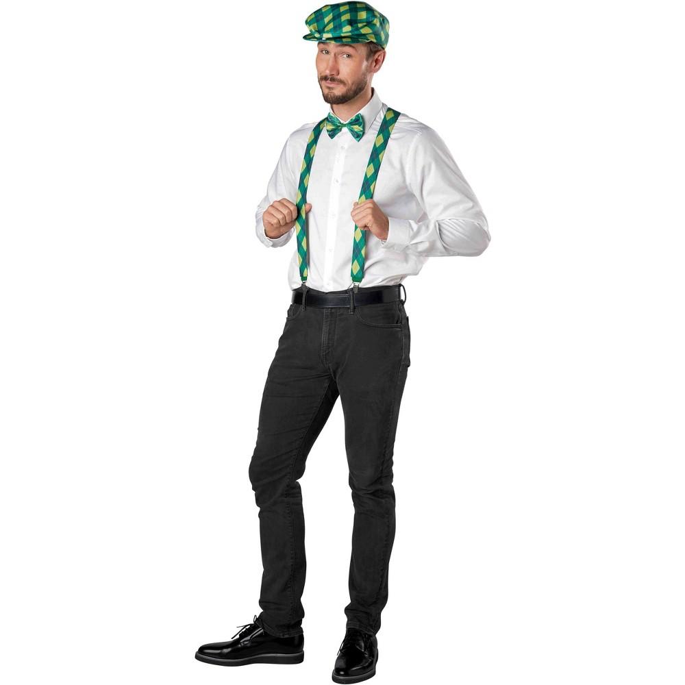 3pc Argyle St. Patrick's Costume Kit Green - Spritz, Men's, Multi-Colored