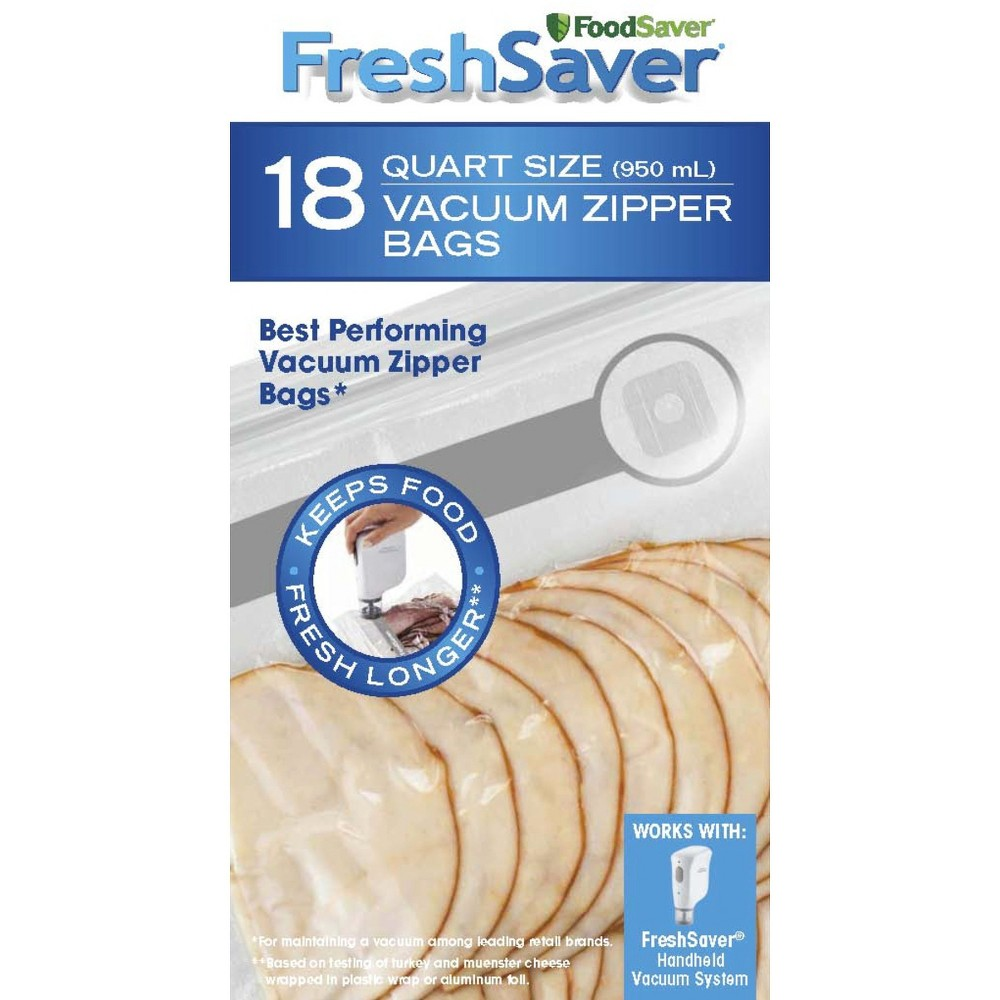 FoodSaver 1qt 18ct Vacuum Zipper Bags, Light Clear 14274849