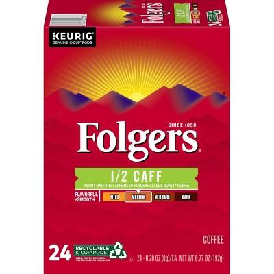 Folgers Half Caff Medium Roast Coffee - Single Serve Pods - 22ct
