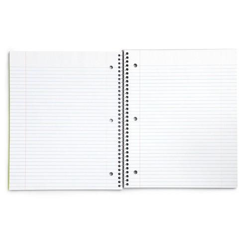yoobi spiral notebook college ruled 1 subject 8 5 x 11 100