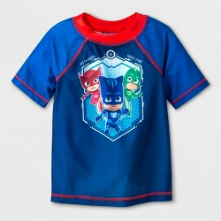 Toddler Boys' PJ Masks Rash Guard - Blue