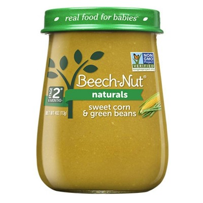Beech-Nut Naturals Sweet Corn & Green Beans Baby Food Jar - 4oz