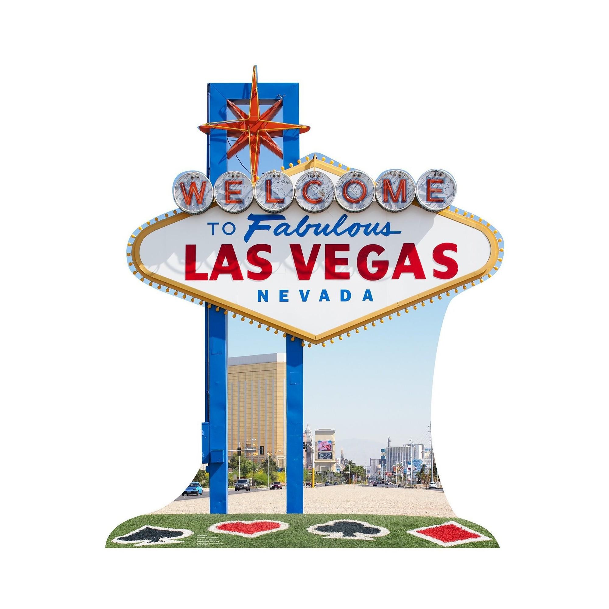 Vegas Sign Standup, Multi-Colored