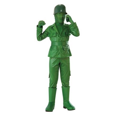 Kids' Army Halloween Costume Green