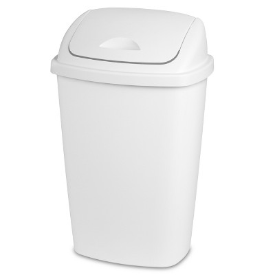 13.2gal Swing Top Wastebasket White - Room Essentials™