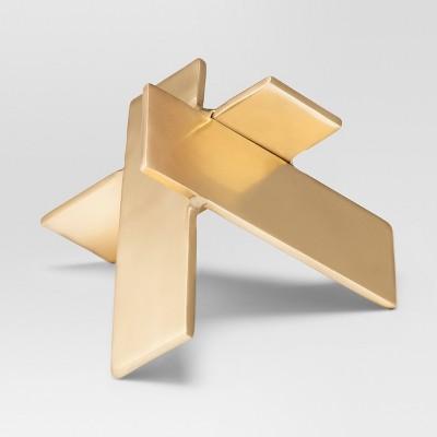 Abstract Modern Brass Figure Sculpture - Gold - Project 62™