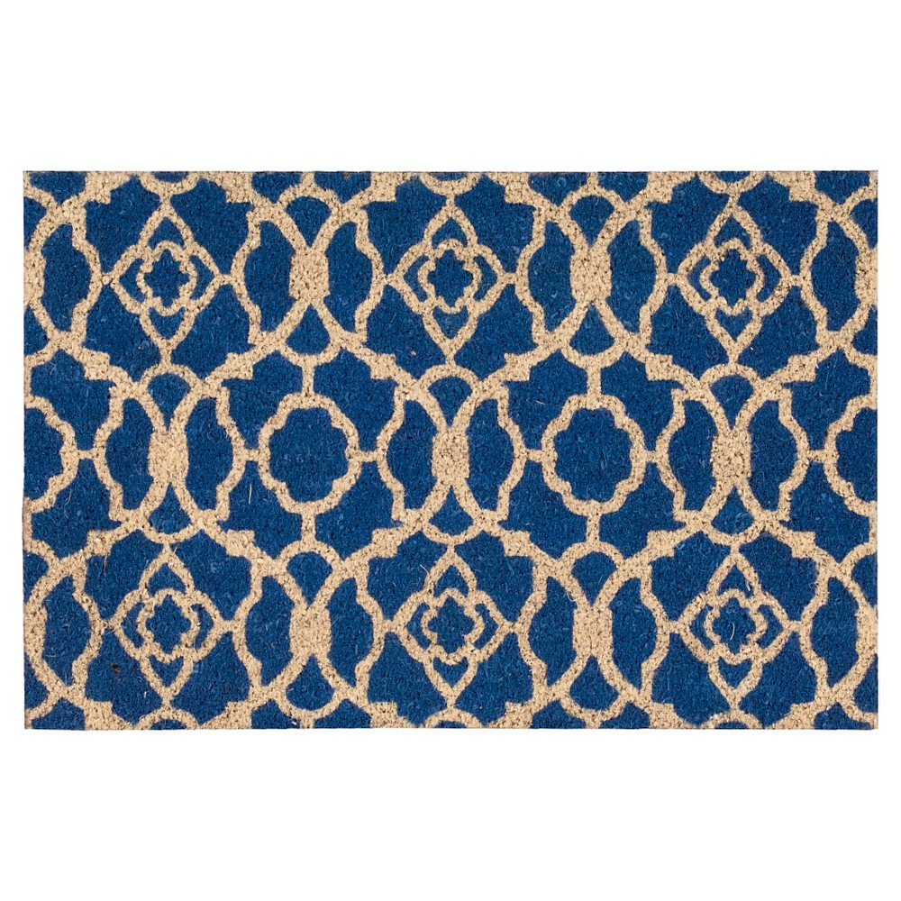 Ocean Blue Lovely Lattic Greetings Accent Rug (1'6x2'4) - Waverly