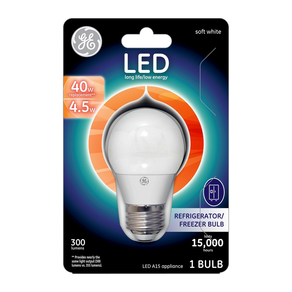 General Electric - Led - 40W - Soft White GE Led Soft White Appliance Bulbs can be used in many refrigerators and freezers. They feature warm pleasing light. They're specially designed to withstand low temperatures.