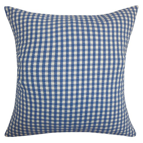 Gingham Throw Pillow Blue 20 X20 The Pillow Collection Target