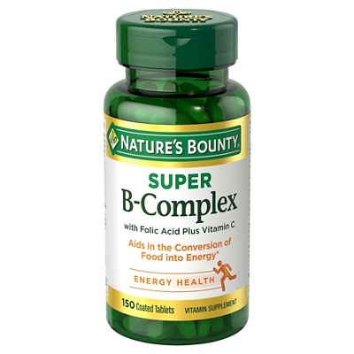 Nature's Bounty Super B Complex Dietary Supplement Coated Tablets - 150ct