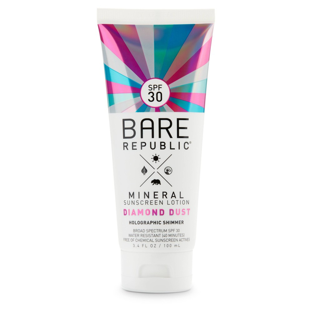 Image of Bare Republic Mineral Diamond Dust Sunscreen Lotion - SPF 30 - 3.4oz