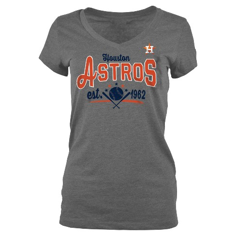 promo code cdd55 e3760 Houston Astros Women's Heathered V-Neck Jersey T-Shirt - Gray M