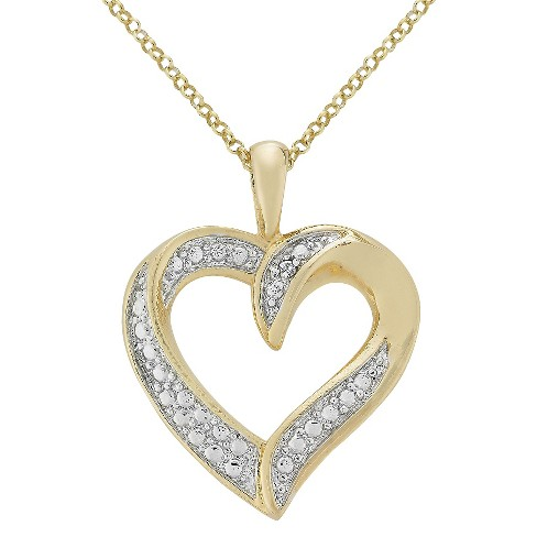Diamond Accent Heart Pendant in Silver Plated Brass (IJ-I2-I3) - image 1 of 1