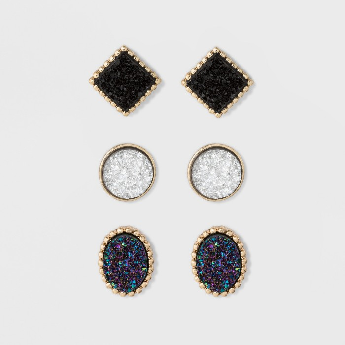 SUGARFIX by BaubleBar Druzy Stud Earring Set - image 1 of 2