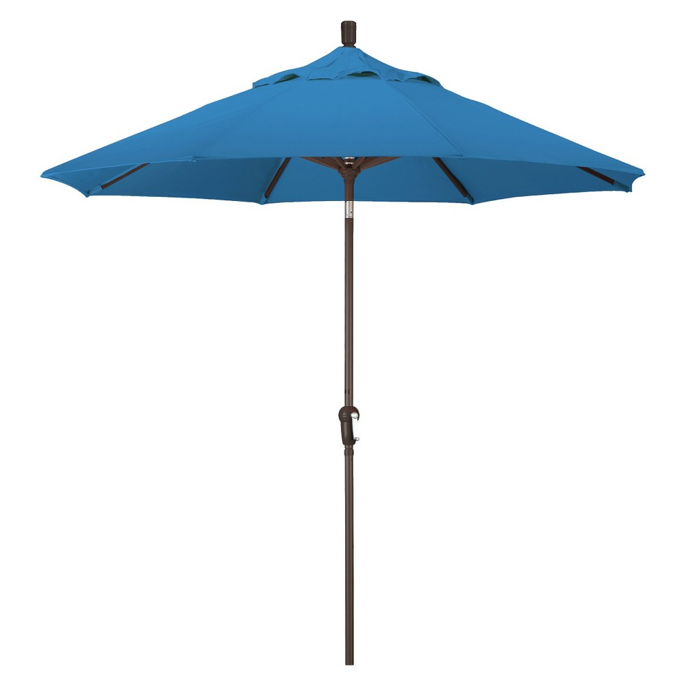 9' Aluminum Auto Tilt Crank Patio Umbrella - Blue Pacifica