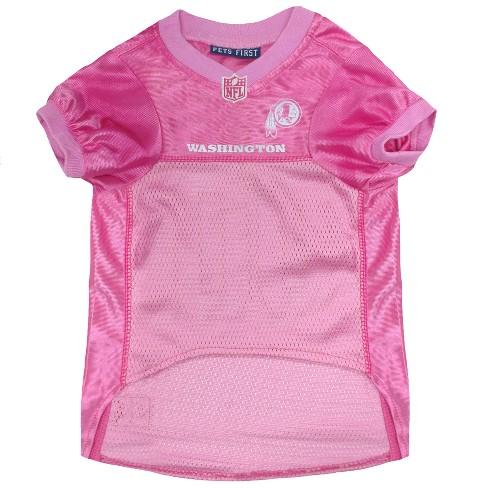 2d09cd7f3 NFL Pets First Pink Pet Football Jersey - Washington Redskins   Target