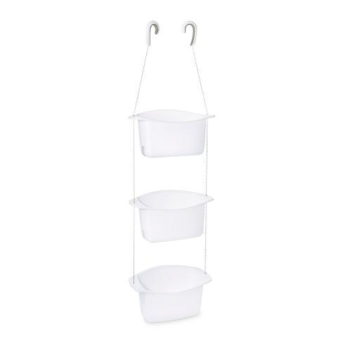 Oasis 3 Basket Polypropylene Shower Caddy White - Loft By Umbra : Target