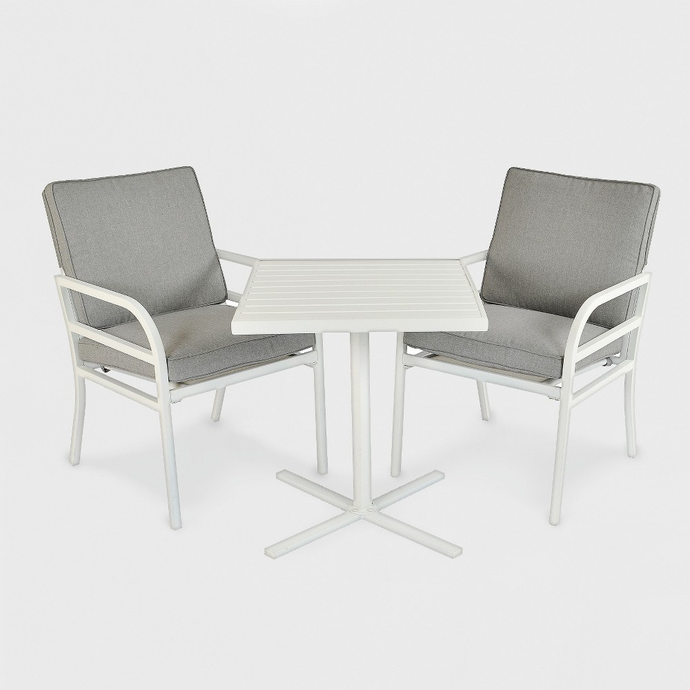 Beacon Hill 3pc Patio Chat Set Gray/White - Project 62 was $330.0 now $165.0 (50.0% off)