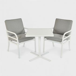 Beacon Hill 3pc Patio Chat Set Gray/White - Project 62™