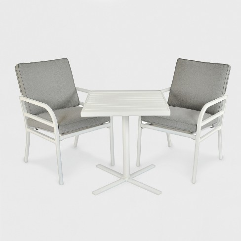 Beacon Hill 3pc Patio Chat Set Gray/White - Project 62™ - image 1 of 1