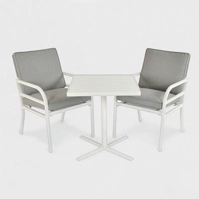 Beacon Hill 3pc Patio Chat Set Gray/White   Project 62™