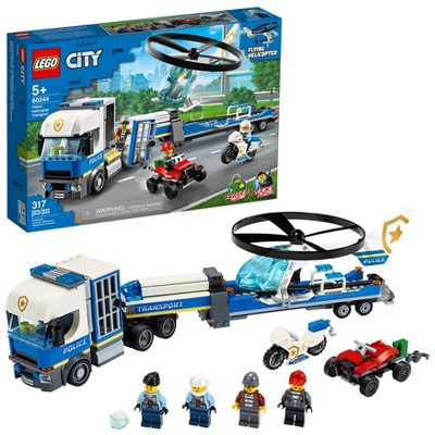 LEGO City Police Helicopter Chase Building Set for Kids 60244