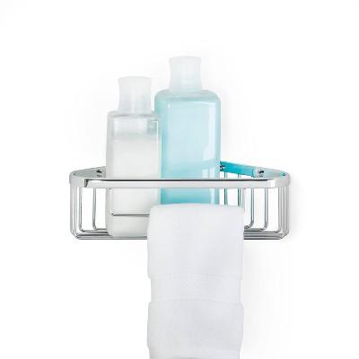 """10"""" Bath Boutique Corner Basket Chrome - Better Living Products"""