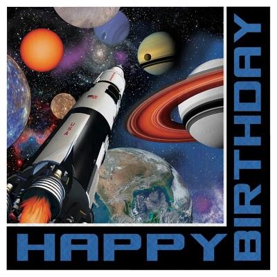 16ct Space Blast Birthday Napkins