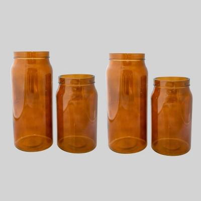4pk Glass Vases Brown - Bullseye's Playground™