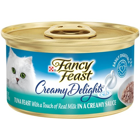 Fancy Feast Creamy Delights Tuna Feast in a Creamy Sauce Wet Cat Food 3oz - image 1 of 3
