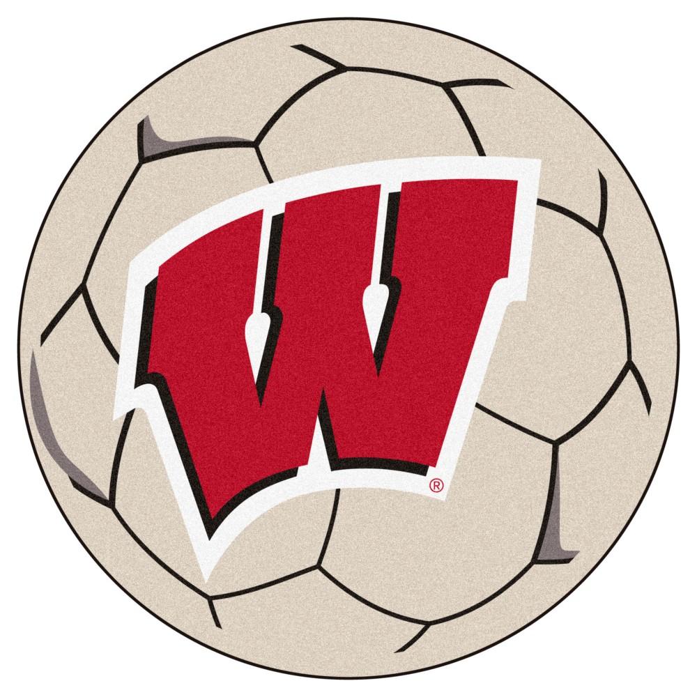 NCAA 27 Soccer Ball Mat Wisconsin Badgers