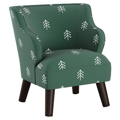 Kids' Modern Chair Line Tree Green - Skyline Furniture
