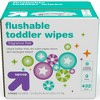 Toddler and Family Flushable Unscented Wipes - 432ct - Up&Up™ - image 5 of 8