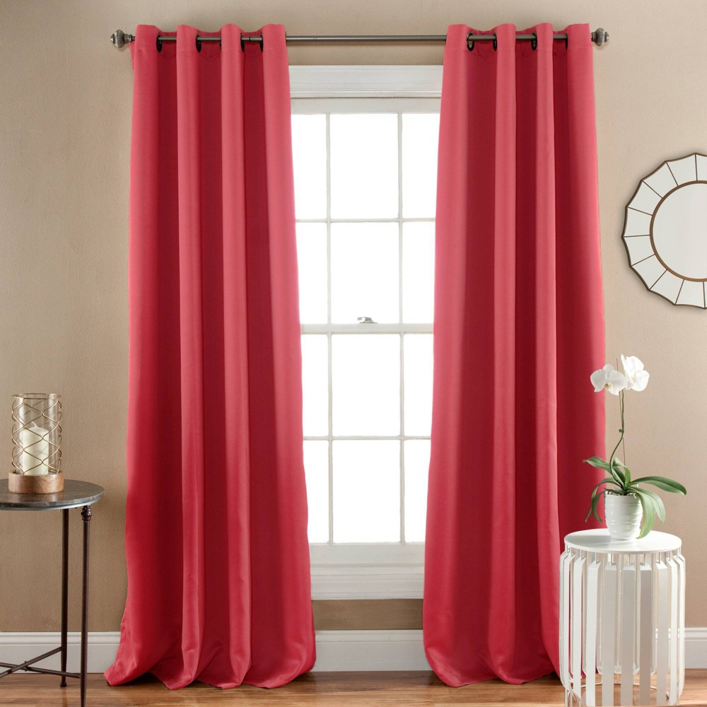 "Image of ""52""""84"""" Blackout Window Curtain Panel Pink - Triangle Home Fashions"""