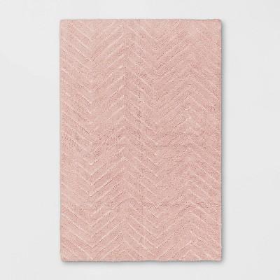 4'x6' Tufted Cotton Chevron Rug Pink - Pillowfort™