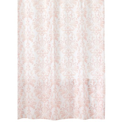 """mDesign LONG Damask Print - Easy Care Fabric Shower Curtain - 72"""" x 84"""""""