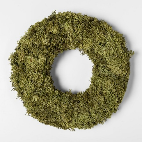 "11"" Dried Moss Wreath Green - Smith & Hawken™ - image 1 of 1"