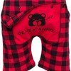 Silver Lilly- Buffalo Plaid Women's Short Sleeve Holiday Romper - image 4 of 4