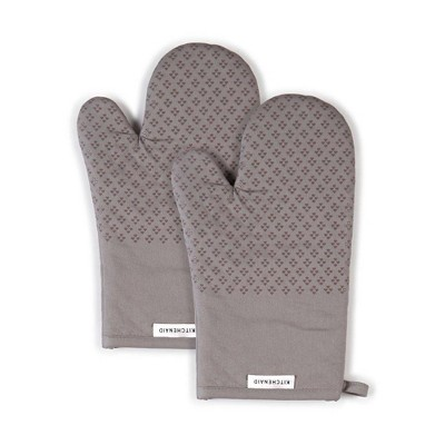 "KitchenAid 2pk 7""X12.5"" Asteroid Oven Mitts Gray"