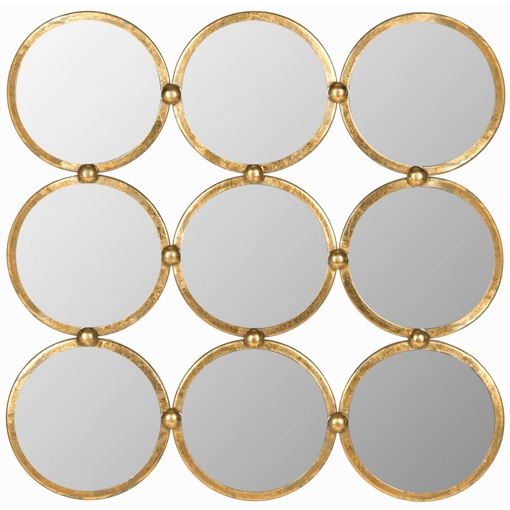 Round Decorative Wall Mirror Gold - Safavieh