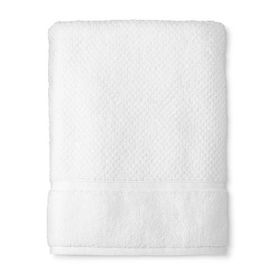 Bath Towel Performance Texture Bath Towels And Washcloths True White - Threshold™