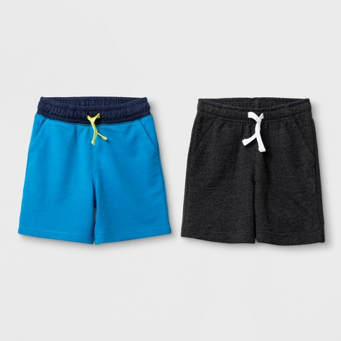 Toddler Boys' Pull-On Shorts 2pk - Cat & Jack™ Blue & Grey - image 1 of 1