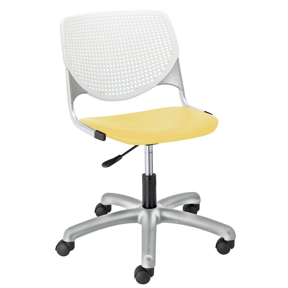 Image of Kool Poly Task Chair Yellow - KFI Seating