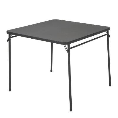 34  Square Resin Top Folding Table Black - Room & Joy