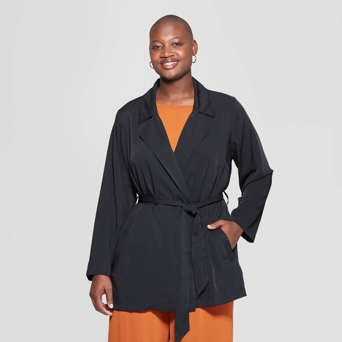 a45bfd4d3b315 Women s Plus Size Drapey Trench Coat - Ava   Viv™   Target