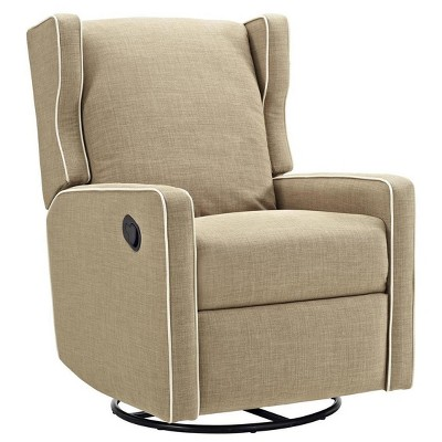 Baby Relax Swivel Gliding Recliner - Beige